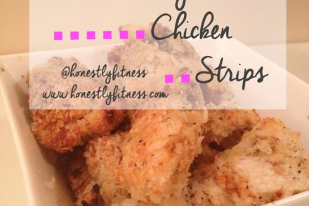 healthy chicken strips with dots